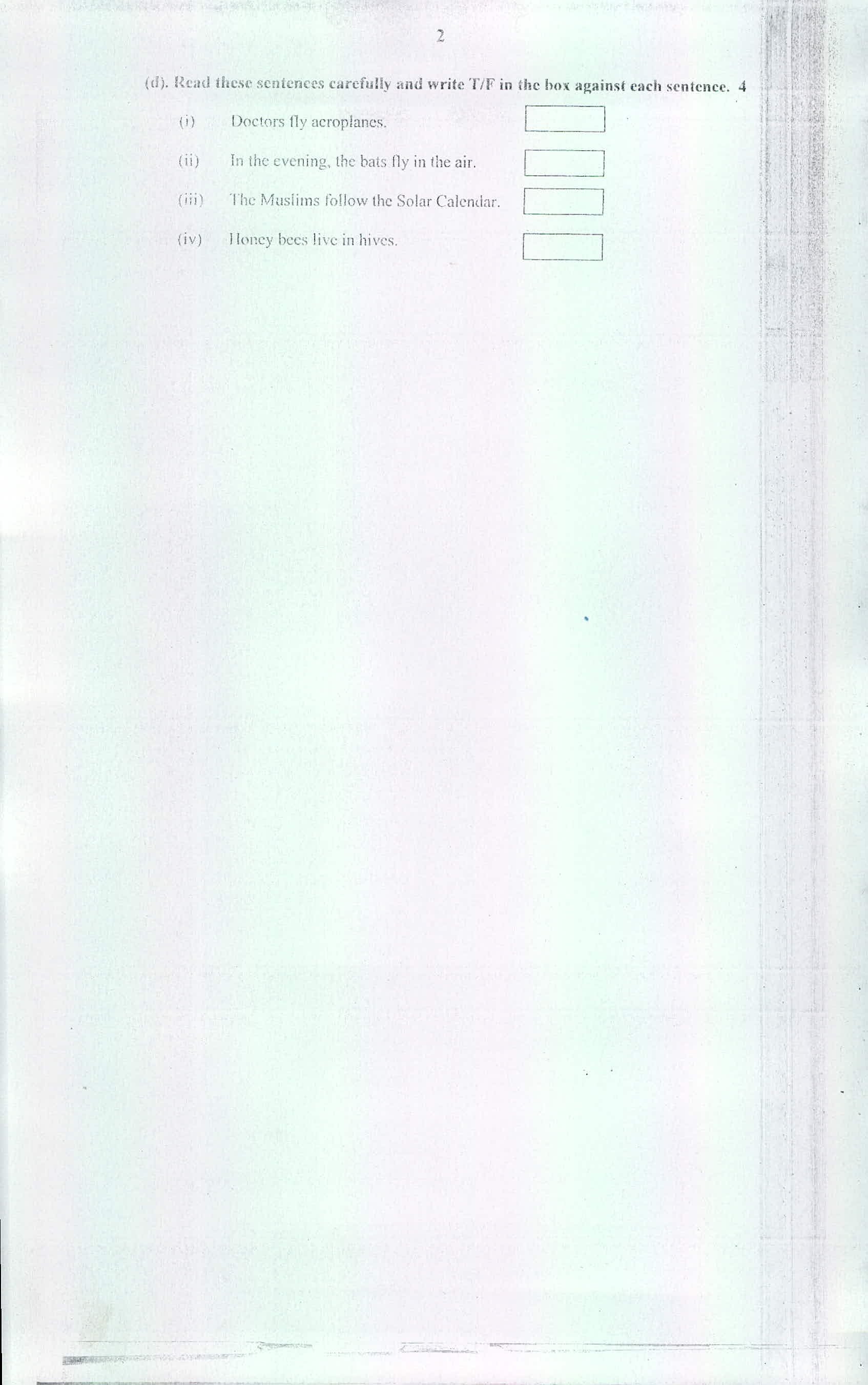 10th Model Question Paper