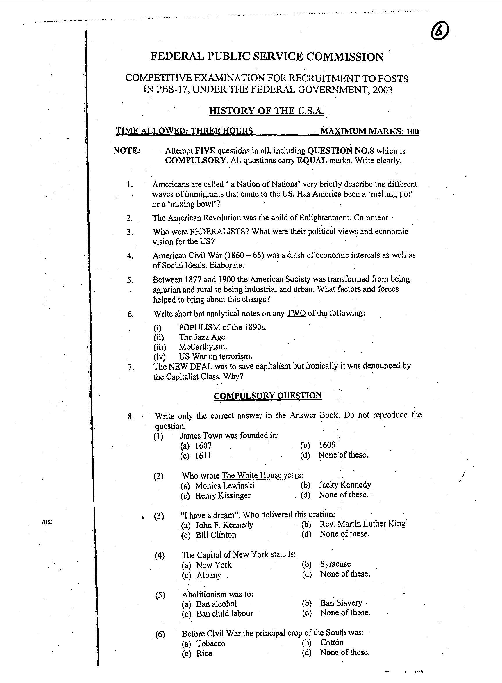 history of usa css pdf