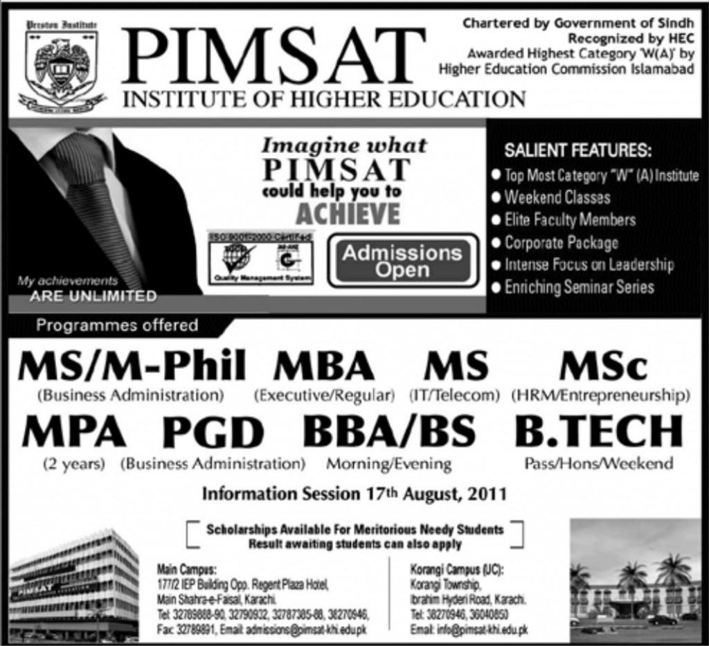 PIMSAT Karachi