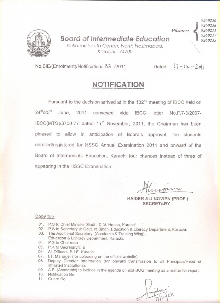 4 year notification Enrolment