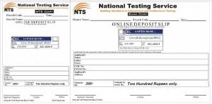 NAT Result Card Deposit Slip