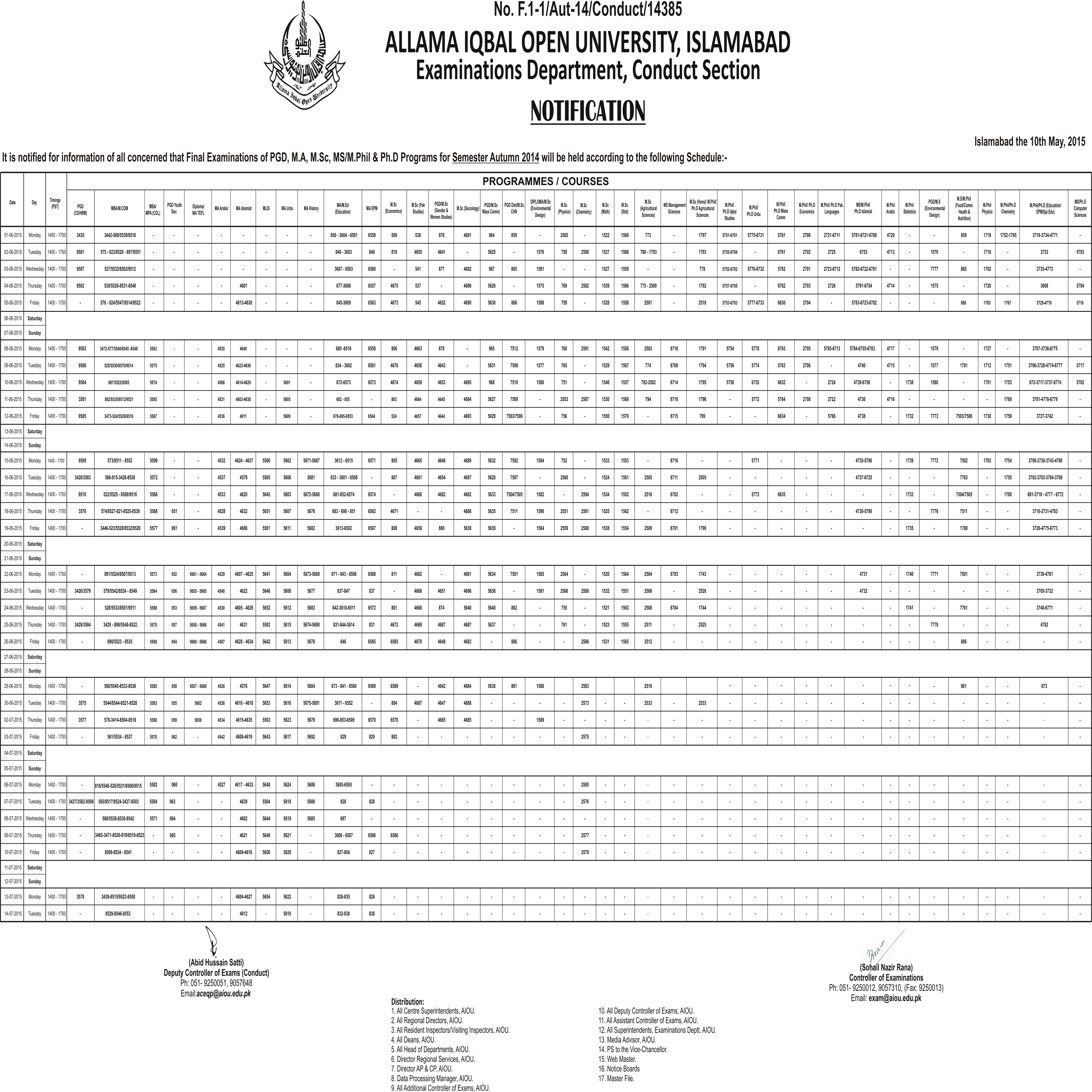 Download Application form and Apply for AIOU TutorShip Here