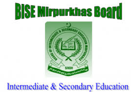 BISE Mirpur Khas Inter Class Part 2 Result 2017